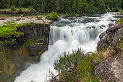 Lower Mesa Falls, Island Park Idaho.  This is one of the several waterfalls of the Henrys Fork River.