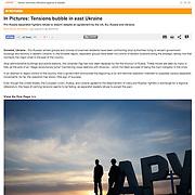 """""""Tensions bubble in east Ukraine"""" published in Al Jazeera"""
