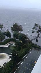 Brickell Av Miami affected by Hurricane Irma. 11 Sep 2017 Pictured: huracan Irma Miami. Photo credit: MICHAEL LESHAY / MEGA TheMegaAgency.com +1 888 505 6342