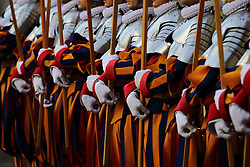 May 6, 2017 - Vatican Swiss Guards Swear Ceremony in the Cortile of San Damaso at the Vatican  (Credit Image: © Evandro Inetti via ZUMA Wire)