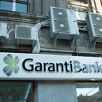 TIMISOARA, ROMANIA - APRIL 21: A detailed view of Garanti bank seen in the city centre  on April 21, 2013 in Timisoara, Romania.  Romania has abandoned a target deadline of 2015 to switch to the single European currency and will now submit to the European Commission a programme on progress towards the adoption of the Euro, which for the first time will not have a target date. (Photo by Marco Secchi/Getty Images)