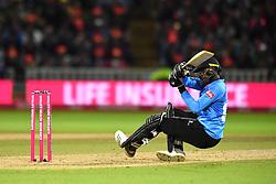Sussex Sharks' Jofra Archer bats during the Vitality T20 Blast Final on Finals Day at Edgbaston, Birmingham.