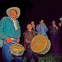 PERU, Village musicians in Yamblon village near Chachapoyas.