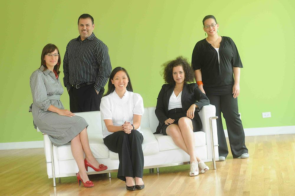 Tuesday, July 28, 2009- Blue Daring staff photo shoot at 488 N. Milwaukee.