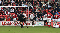 Photo: Mark Stephenson.<br />Walsall v Barnet. Coca Cola League 2. 24/02/2007. Walsall's No.8 Michael Dobson scores