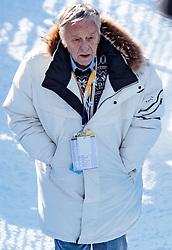 12.02.2017, St. Moritz, SUI, FIS Weltmeisterschaften Ski Alpin, St. Moritz 2017, Abfahrt, Herren, im Bild Gian Franco Kasper (FIS Präsident) // Gian Franco Kasper president of the International Ski Federation during the men's Downhill of the FIS Ski World Championships 2017. St. Moritz, Switzerland on 2017/02/12. EXPA Pictures © 2017, PhotoCredit: EXPA/ Johann Groder