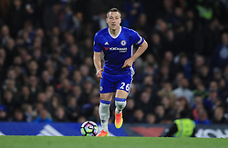 """Chelsea's John Terry during the Premier League match at Stamford Bridge, London. PRESS ASSOCIATION Photo. Picture date: Monday May 8, 2017. See PA story SOCCER Chelsea. Photo credit should read: Mike Egerton/PA Wire. RESTRICTIONS: EDITORIAL USE ONLY No use with unauthorised audio, video, data, fixture lists, club/league logos or """"live"""" services. Online in-match use limited to 75 images, no video emulation. No use in betting, games or single club/league/player publications."""