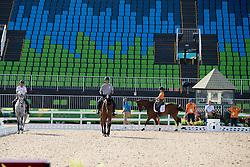 Team Netherlands training session<br /> Lips Tim, Bayo<br /> Blom Merel, Rumour Has It<br /> Naber-Lozeman Alice, Peter Parker<br /> Van de Vendel Theo, Zindane<br /> Olympic Games Rio 2016<br /> © Hippo Foto - Dirk Caremans<br /> 04/08/16