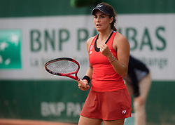 May 30, 2019 - Paris, FRANCE - Monica Puig of Puerto Rico in action during her second-round match at the 2019 Roland Garros Grand Slam tennis tournament (Credit Image: © AFP7 via ZUMA Wire)