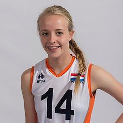 07-06-2016 NED: Jeugd Oranje meisjes <2000, Arnhem<br /> Photoshoot met de meisjes uit jeugd Oranje die na 1 januari 2000 geboren zijn / Matilde Boereboom