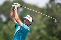 August 5, 2018 - Akron, OH, U.S. - AKRON, OH - AUGUST 05:   Bubba Watson (USA) plays his shot from the sixth tee during the final round of the World Golf Championships - Bridgestone Invitational on August 5, 2018 at the Firestone Country Club South Course in Akron, Ohio. (Photo by Shelley Lipton/Icon Sportswire) (Credit Image: © Shelley Lipton/Icon SMI via ZUMA Press)