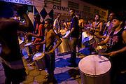 Cubatão Samba School (bateria da escola de samba nações unidas) practice on the street