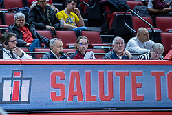 NORMAL, IL - February 27: Officials bench during a college women's basketball game between the ISU Redbirds and the Bears of Missouri State February 27 2020 at Redbird Arena in Normal, IL. (Photo by Alan Look)