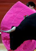 """V. 08. Valencia, 20/07/06. El diestro Julián López """"El Juli"""" da un pase a su primer astado en la corrida de toros celebrada hoy en el coso valenciano con motivo de la feria de Julio. EFE/Kai Försterling"""