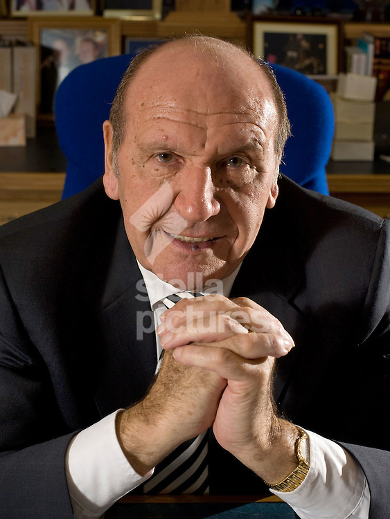 Picture by Daniel Hambury..16/12/09..Founder and chairman of Clinton Cards, Don Lewin picture in his Essex office.