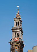 View of the Westerkerk church, Amsterdam, Netherlands.