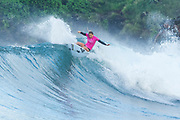 6X World Champion Stephanie Gilmore of Australia will surf in Round Two of the 2017 Maui Women's Pro after placing second in Heat 1 of Round One at Honolua Bay, Maui, Hawaii, USA.