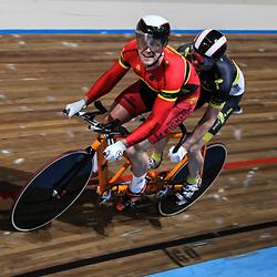 Nederlands Kampioenschap Kilometer Tandem Apeldoorn Teun Mulder als piloot van Rinne Oost (Borne) de titel op de kilometer