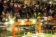 people on the Tokyo-Wan ferry at Kurihama harbor Yokosuka Kanagawa prefecture Japan