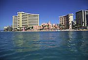 Royal Hawaiian and Sheraton Waikiki hotels, Waikiki, Oahu, Hawaii<br />