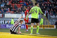 Notts County forward Jonathan Stead (30) scores a goal (score 0-2) during the EFL Sky Bet League 2 match between Leyton Orient and Notts County at the Matchroom Stadium, London, England on 18 February 2017. Photo by Andy Walter.