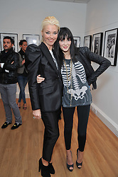 Left to right, TAMARA BECKWITH and ANNABELLE NEILSON at a private view of photographs by Marina Cicogna from her book Scritti e Scatti held at the Little Black Gallery, 3A Park Walk London SW10 on 16th October 2009.
