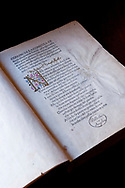 Dante's Divine Comedy, original edition printed in 1472 - primo canto, first poem - l' Inferno ... Biblioteca Angelica, Rome, Italy