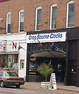 5/18/05 -- Omaha, NE Greg Bourne Clocks in the Benson neighborhood in Omaha..Photo by Chris Machian/Prairie Pixel Group