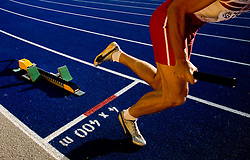 Sprinter competes in the men's 4x400 m Relay Final during the day nine of the 12th IAAF World Athletics Championships at the Olympic Stadium on August 23, 2009 in Berlin, Germany. (Photo by Vid Ponikvar / Sportida)