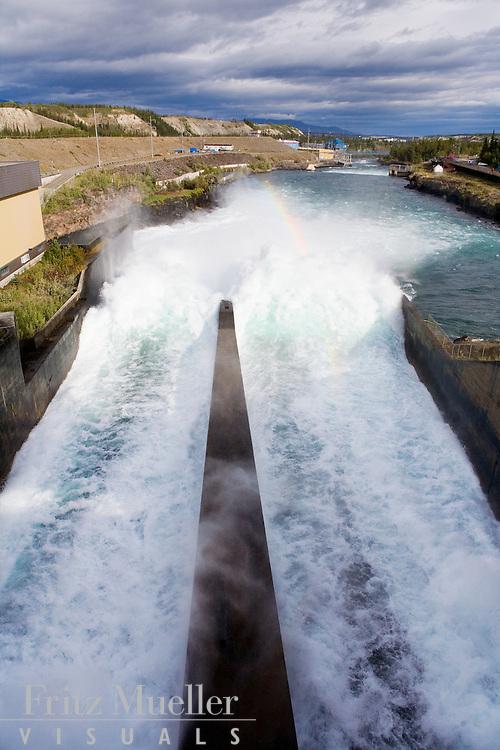 Yukon Energy Corporation dam on the Yukon River in Whitehorse