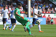 Alessandro Russo of Italy (1) during the UEFA European Under 17 Championship 2018 match between England and Italy at the Banks's Stadium, Walsall, England on 7 May 2018. Picture by Mick Haynes.