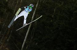 Spela Rogelj of Slovenia soaring through the air during 1st Round at Day 1 of World Cup Ski Jumping Ladies Ljubno 2019, on February 8, 2019 in Ljubno ob Savinji, Slovenia. Photo by Matic Ritonja / Sportida