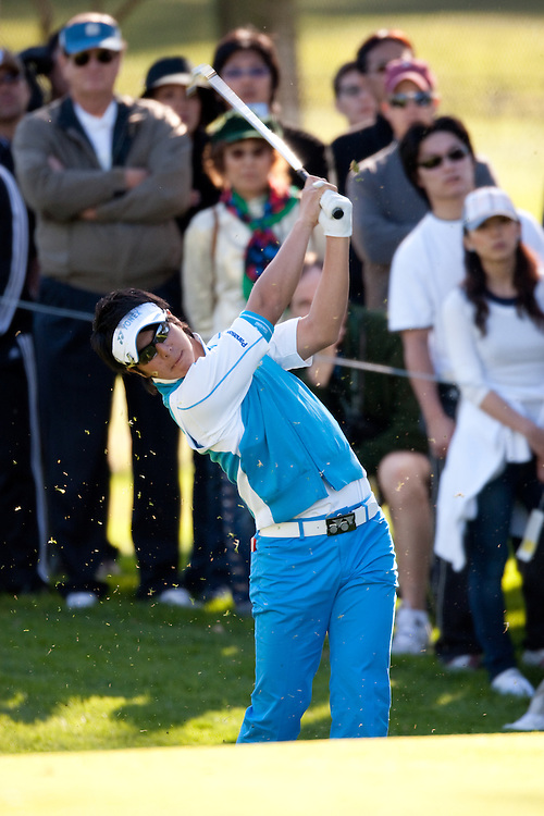 PACIFIC PALISADES, CA - FEBRUARY 19:  Ryo Ishikawa hits his shot during the first round of the 2009 Northern Trust Open at Riviera Country Club in Pacific Palisades, California on Thursday, February 19, 2009. (Photograph by 2009 Darren Carroll)  *** Local Caption *** Ryo Ishikawa
