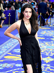 Nadine Hermez attending the Aladdin European Premiere held at the Odeon Luxe Leicester Square, London.