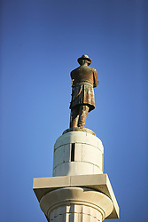 09 February 2016. New Orleans, Louisiana.<br /> Mardi Gras Day. Controversial statue of General Robert E Lee at Lee Circle. The statue is slated to be removed. <br /> Photo©; Charlie Varley/varleypix.com