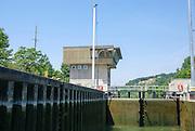 A lock on the Rhine–Main–Danube Canal near Regensburg, Bavaria, Germany