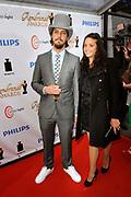 Uitreiking van de Rembrandt Awards 2012 in de Escape, Amsterdam.<br /> <br /> Op de foto:  Flip van der Kuil   en partner