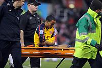 Fotball<br /> England<br /> Foto: Fotosports/Digitalsport<br /> NORWAY ONLY<br /> <br /> Britannia Stadium Stoke City v Arsenal  Premier League (2-1) 01/11/2008<br /> Theo Walcott (Arsenal) is stretchered off with shoulder injury