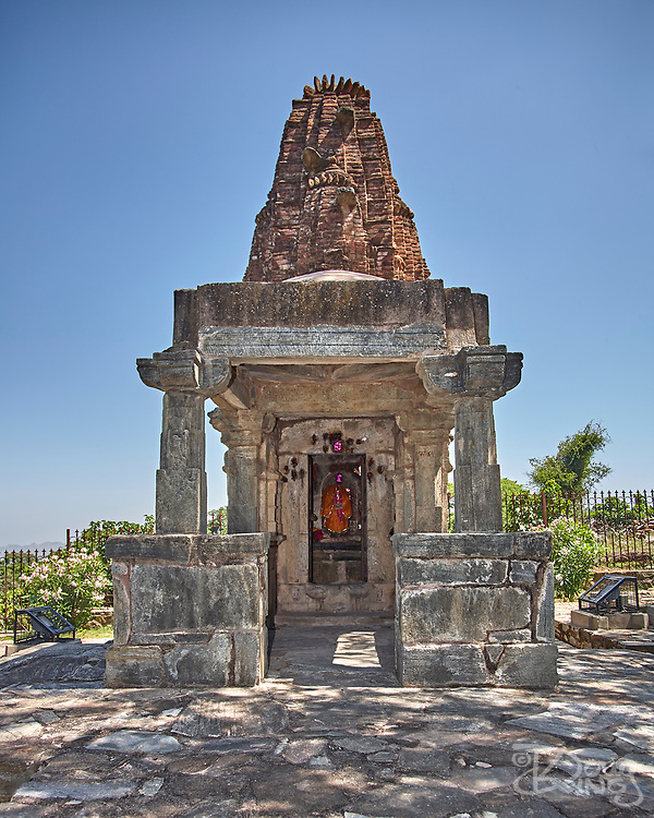 A small Hindu Temple within the grounds of the Kumbhalgarh Hill Fort, Rajasthan, Udaipur, India,