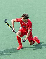 AMSTELVEEN - Florent van Aubel (Bel)  tijdens de heren -wedstrijd om de 3e plaats ,  Engeland-Belgie (2-3)  bij het  EK hockey , Eurohockey 2021. COPYRIGHT KOEN SUYK