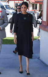 The Duchess of Sussex during a visit to Te Papaiouru, Ohinemutu, in Rotorua, before a lunch in honour of Harry and Meghan, on day four of the royal couple's tour of New Zealand.