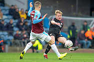 defender Ben Williams (28) during the The FA Cup 3rd round match between Burnley and Barnsley at Turf Moor, Burnley, England on 5 January 2019.