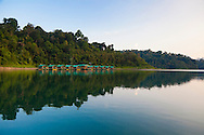 Ranforest Camp Elephant Hills Luxury Floating Tented Camp in the rainforest in Southern Thailand.