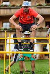 06.06.2017, Bio Hotel Stanglwirt, Going, AUT, OeSV Training, Herren Speed Team, Pressetermin, Training, im Bild Romed Baumann // Romed Baumann of Austria during a Trainingsession of men's speed Ski Team of Austrian Ski Federation (OeSV) at the Bio Hotel Stanglwirt in Going, Austria on 2017/06/06. EXPA Pictures © 2017, PhotoCredit: EXPA/ Stefan Adelsberger