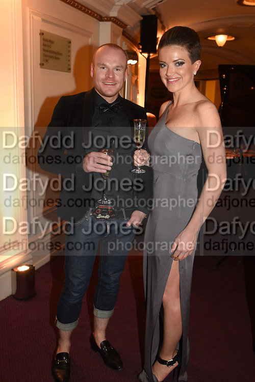 PHILIP CHRISTOPHER BALDWIN; LUCY DARTFORD, The Backstage Gala in aid of the Naked Heart Foundation. Coliseum theatre. London. 17 April 2015