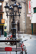 Red bicycles, Puigcerda, Catalonia. January 2014. (c) Dave Walsh