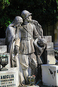 First world war memorial at the Monumental Cemetery of Staglieno (Cimitero monumentale di Staglieno), Genoa, Italy