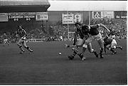All Ireland Hurling Final - Cork vs Kilkenny.05.09.1982.09.05.1982.5th September 1982.Image taken at Croke Park,Dublin..Martin O'Doherty (Cork) beats Christy Heffernan (Kilkenny) to the ball to break up a Kilkenny attack.