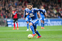 Nabil FEKIR - 04.04.2015 - Guingamp / Lyon - 31eme journee de Ligue 1<br />Photo : Vincent Michel / Icon Sport