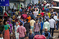 June 22, 2017 - Dhaka, Dhaka, Bangladesh - June 22, 2017 Dhaka, Bangladesh - Bangladeshi homebound people gather Sadarghat launch terminal as they travel to villages ahead of the Eid al-Fitr festival, at Sadarghat, Dhaka. Millions of city dwellers travel to their villages to celebrate Eid al-Fitr, which marks the end of the Muslim fasting month of Ramadan. (Credit Image: © K M Asad via ZUMA Wire)